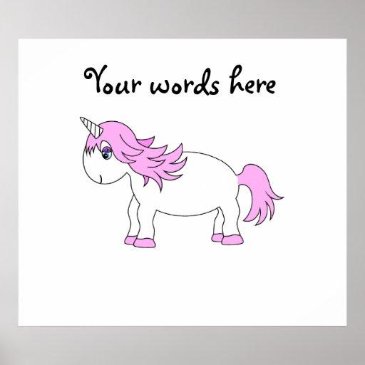 Pink unicorn print