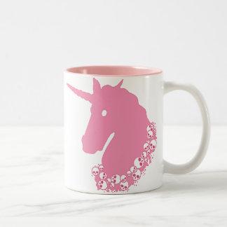 Pink Unicorn with Skulls Mug