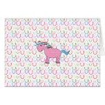 Pink unicorn with white stars