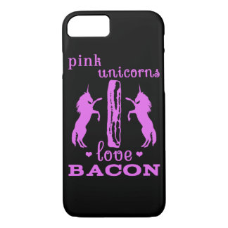Pink Unicorns Love Bacon iPhone 7 Case