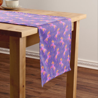 Pink Unicorns Medium Table Runner