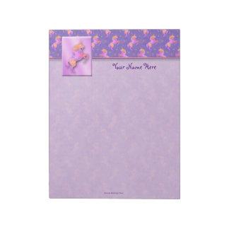 Pink Unicorns Top Border Notepad