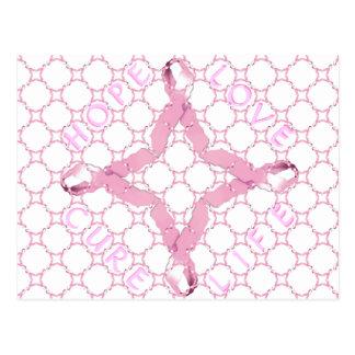 Pink Union HOPE LOVE CURE LIFE Postcard