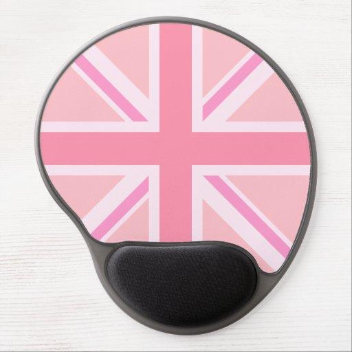 Pink Union Jack/Flag Alternative Design Gel Mouse Mats