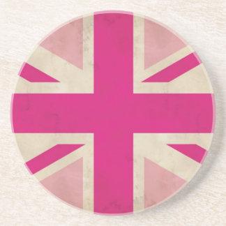 Pink Union Jack Flag Coaster