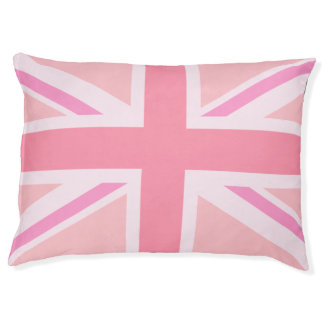 Pink Union Jack/Flag Design Pet Bed