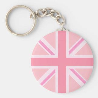 Pink Union Jack/Flag Key Ring