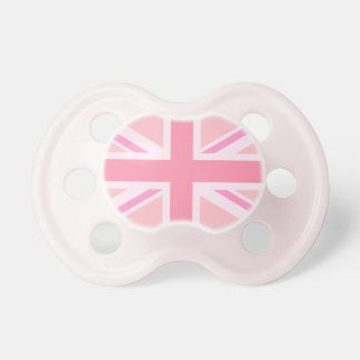 Pink Union Jack/Flag Pacifiers