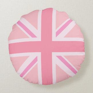 Pink Union Jack/Flag Round Cushion
