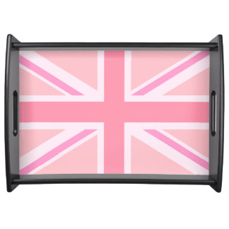 Pink Union Jack/Flag Serving Tray