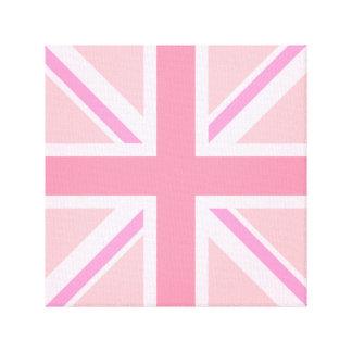 Pink Union Jack/Flag Square Design Canvas Print