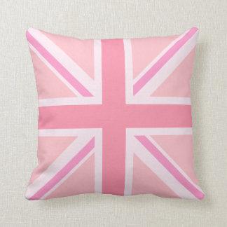 Pink Union Jack/Flag Square Design Cushion