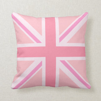 Pink Union Jack/Flag Square Design Throw Pillow