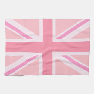 Pink Union Jack/Flag Tea Towel