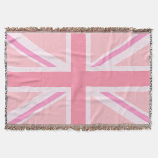 Pink Union Jack/Flag Throw Blanket