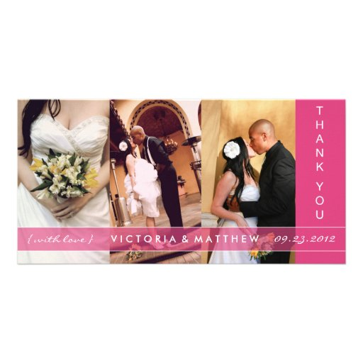 PINK UNION | WEDDING THANK YOU CARD PHOTO CARD