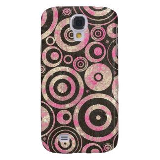 Pink Urban Grunge Circles Galaxy S4 Covers