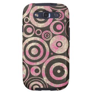 Pink Urban Grunge Circles Samsung Galaxy S3 Cover