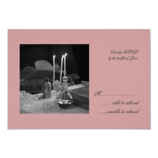 Pink Vaftisi RSVP Personalized Invitations