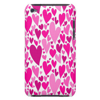 Pink Valentine's hearts iPod Touch Case