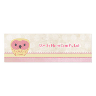 Pink Vanilla Lemon Owl Business Favor Gift Card Pack Of Skinny Business Cards