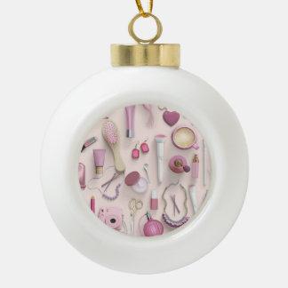 Pink Vanity Table Ceramic Ball Decoration