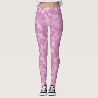 Pink Variations Camo Pattern Yoga Leggings