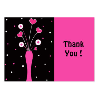 Pink vase ThankYou ! - Card Business Card Template