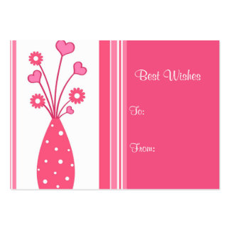 Pink vase with stripes - Card Business Cards