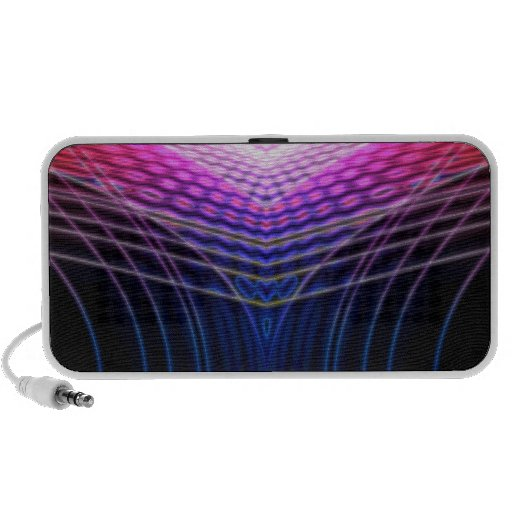 Pink Vector Wave Mp3 Speakers