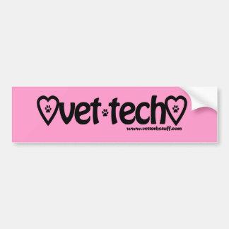 pink vet tech bumper sticker car bumper sticker