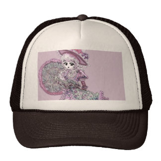Pink Victorian Anime Girl Gothic Lolita Vintage Mesh Hat