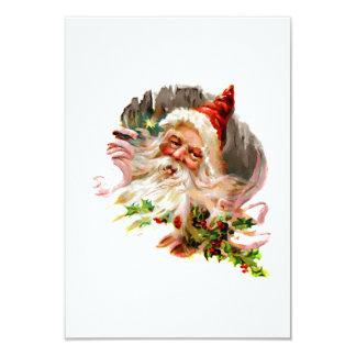 Pink Victorian Santa Claus 9 Cm X 13 Cm Invitation Card