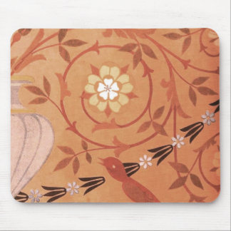 Pink Vine and Vase Textile Mouse Pad