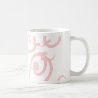 pink vine basic white mug