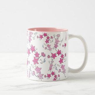 Pink Vines Two-Tone Mug