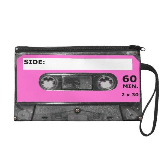 Pink Vintage 80s Cassette Wristlet Purse