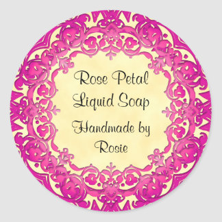 Pink Vintage Art Custom Crafters Stickers