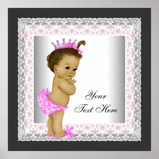 Pink Vintage Baby Girl Princess Poster