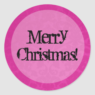 Pink Vintage background Merry Christmas Stickers