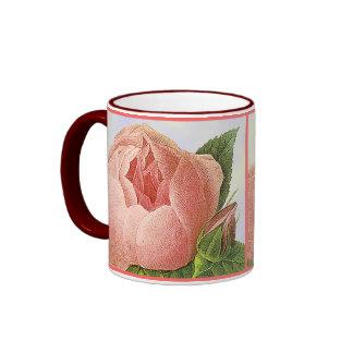 Pink Vintage Botanical Rosebud Coffee Mug