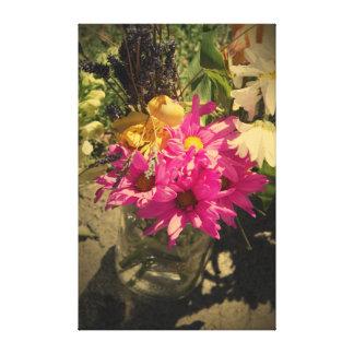 Pink Vintage Bouquet Canvas Print