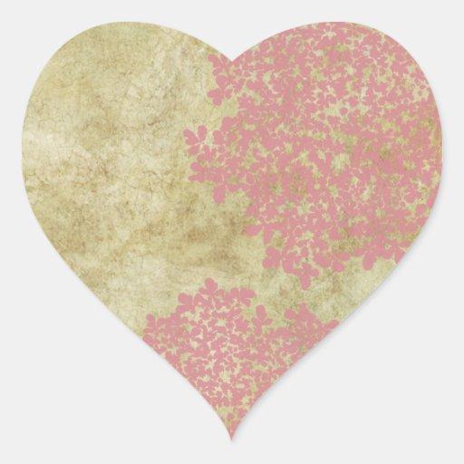 Pink Vintage Floral Envelope Seal Stickers