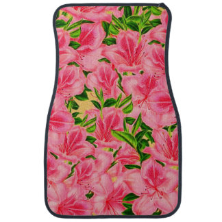 Pink Vintage Flowers Car Mat