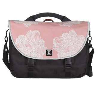 Pink Vintage Geode Pattern Bags For Laptop