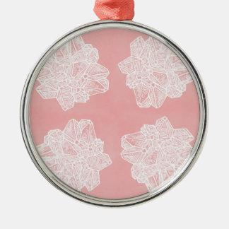 Pink Vintage Geode Pattern Christmas Ornament