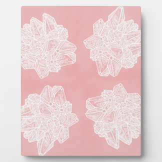 Pink Vintage Geode Pattern Photo Plaques
