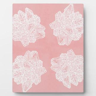 Pink Vintage Geode Pattern Photo Plaques