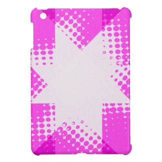 Pink vintage halftone star case for the iPad mini