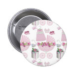 Pink Vintage Its A Girl 6 Cm Round Badge